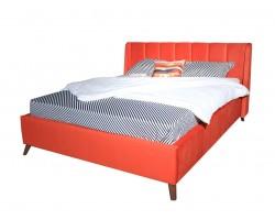 Кровать с подъемным механизмом Мягкая Betsi 1600 оранж и матрао