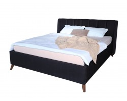 Кровать с подъемным механизмом Мягкая Betsi 1600 темная и матра