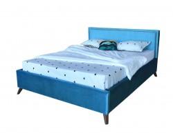 Мягкая кровать Melani 1600 синяя ортопед.основание с матрасом АСТРА