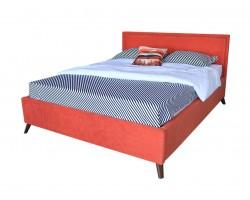 Мягкая кровать Melani 1600 оранж ортопед.основание с матрасом АСТРА