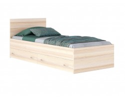 """Кровать односпальная """"Виктория"""" 900 с ящиками дуб/дуб"""