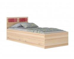 Кровать Односпальная 900*2000 со стеклом с 2-мя ящиками