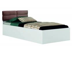 """Кровать односпальная белая """"Виктория-П"""" 900 с мягким"""