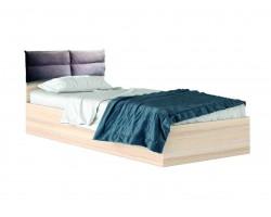 """Кровать односпальная светлая """"Виктория-П"""" 900 с мягким"""