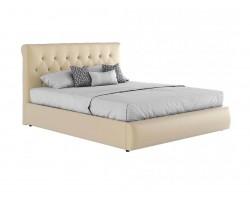 """Мягкая светлая интерьерная кровать """"Амели"""" с подъемным"""