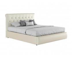 """Кровать с подъемным механизмом Мягкая белая интерьерная """"Амели"""""""