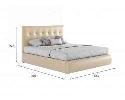 """Мягкая светлая интерьерная кровать """"Селеста"""" с"""