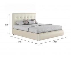 """Кровать Мягкая белая интерьерная """"Селеста"""" с подъемным"""