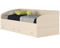 """Подростковая кровать """"Уника"""" с ящиками на 900 в цвете дуб"""