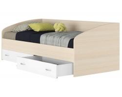 """Подростковая кровать """"Уника"""" с ящиками на 900 в цвете дуб/"""