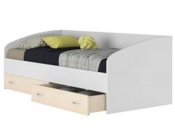 """Подростковая кровать """"Уника"""" с ящиками на 900 в цвете белы"""