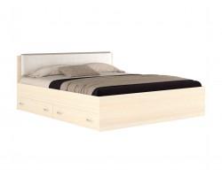 Кровать Виктория ЭКО узор 180 с ящиками (Дуб) с матрасом ГОСТ