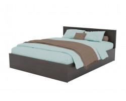 Кровать Адель 1600 с багетом и ортопедическим матрасом АСТРА