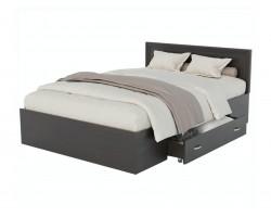 Кровать односпальная Адель 1200 с багетом, ящиком и ортопедическим матрасом P