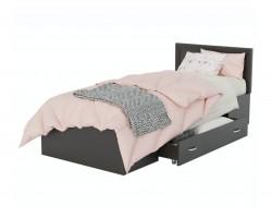 Кровать Адель 900 с багетом, ящиком и ортопедическим матрасом АС