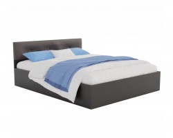 Кровать Виктория ЭКО-П 140 (Венге/Венге) темная с матрасом PROMO