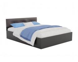 Кровать Виктория ЭКО-П 160 (Венге/Венге) темная с матрасом АСТРА