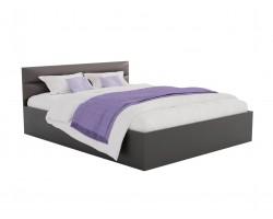 Кровать Виктория-МБ 140 (Венге/Венге) темная с матрасом АСТРА