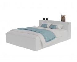 Кровать Доминика с блоком 160 (Белый) с матрасом ГОСТ