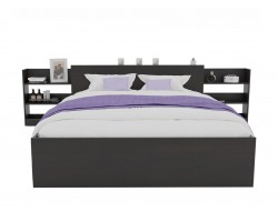 Кровать Доминика с блоком 160 (Венге) с матрасом АСТРА