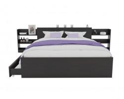Кровать Доминика с блоком и ящиками 180 (Венге) с матрасом ГОСТ