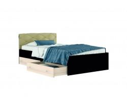 Полутороспальная Кровать Виктория-П 120 с ящиками, подушкой и