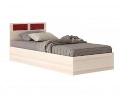 """Кровать односпальная """"Виктория-С"""" со стеклом 80 см ду"""