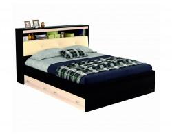 """Кровать """"Виктория ЭКО-П"""" 1400 с откидным блоком из кож"""