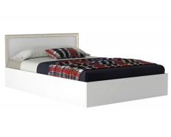 Кровать Виктория-Б 140 белая с матрасом ГОСТ