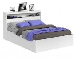Кровать Виктория белая 140 с блоком