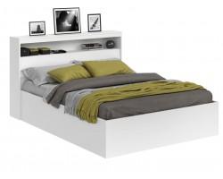 Кровать Виктория белая 160 с блоком