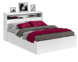Кровать двуспальная Виктория белая 180 с блоком и матрасом ГОСТ