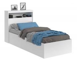 Детская кровать Виктория белая 90 с блоком и матрасом PROMO B COCOS