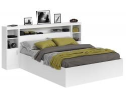 Кровать Виктория белая 160 с блоком, тумбами и матрасом PROMO B