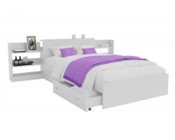 Кровать Доминика с блоком и ящиками 120 (Белый)