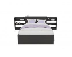 Кровать Доминика с блоком 120 (Венге) с матрасом ГОСТ