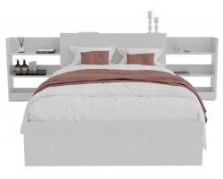 Детская кровать Доминика с блоком 120 (Белый) с матрасом ГОСТ