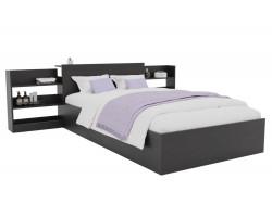 Кровать Доминика с блоком 120 (Венге) с матрасом PROMO B COCOS