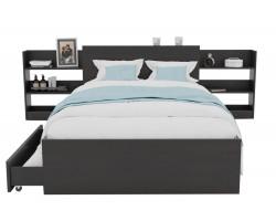 Кровать Доминика с блоком и ящиками 120 (Венге) с матрасом ГОСТ