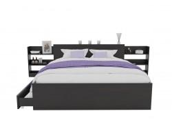 Кровать Доминика с блоком и ящиками 120 (Венге) с матрасом АСТРА