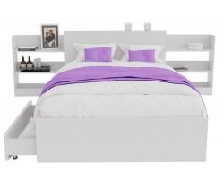 Кровать Доминика с блоком и ящиками 120 (Белый) с матрасом АСТРА