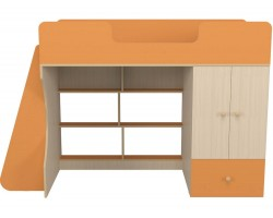 Кровать-чердак со шкафом Капризун 2 (80х160)