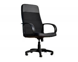 Компьютерное кресло Офисное Office Lab standart-1581 Эко кожа черный / ткань