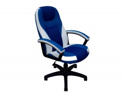 Кресло руководителя Office Lab comfort-2082 Синий/Белый