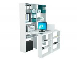 Стеллаж со столами Рикс-4545 белый