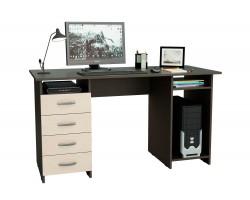 Стол компьютерный письменный Милан-6 (0120) венге / дуб молочный