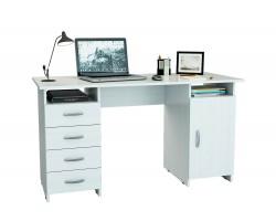 Стол компьютерный письменный Милан-7 (0120) белый