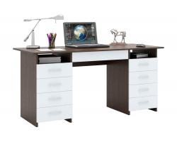 Компьютерный стол письменный Милан-10Я (0120) венге / белый