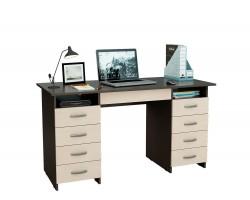 Стол компьютерный письменный Милан-10Я (0120) венге / дуб молочный