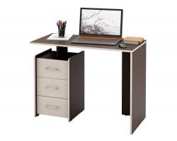 Компьютерный стол письменный Слим-1 венге / дуб молочный